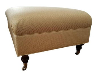 Custom Upholstered Ottoman