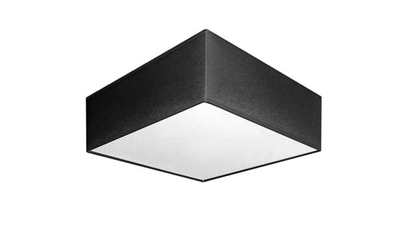 Flush mount ceiling black square lamp shade square ceiling mozeypictures Image collections