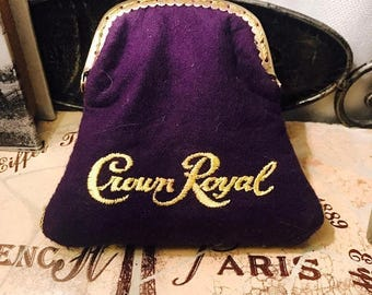 Handmade Crown Royal Coin Purse with a Kiss Clasp