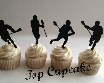 Lacrosse Cupcake Toppers -12