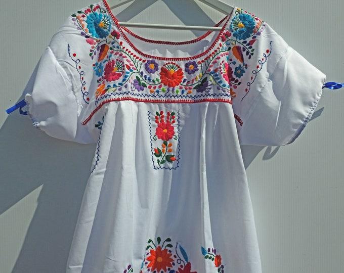 White Mexican dress women