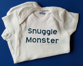 Snuggle Monster Baby Clothes, Gender Neutral Baby Clothes, Funny Baby Clothes, Baby Shower Gift, Monster Baby Clothes, Snuggle, Monster