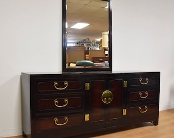 Hickory White Dresser And Mirror
