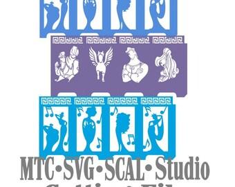 Hercules Bundle lanterne Design 04 coupe Silhouette MTC SCAL fichier Format de fichier SVG