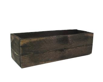 Planter - Rustic Reclaimed Wood  - Garden Decor - Table Centerpiece
