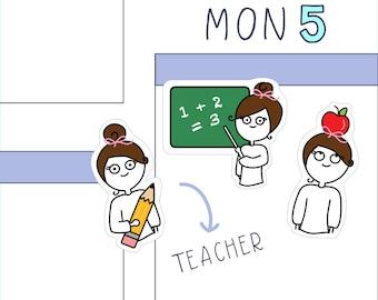 Teacher PLANNER STICKERS - 16 count sticker sheet