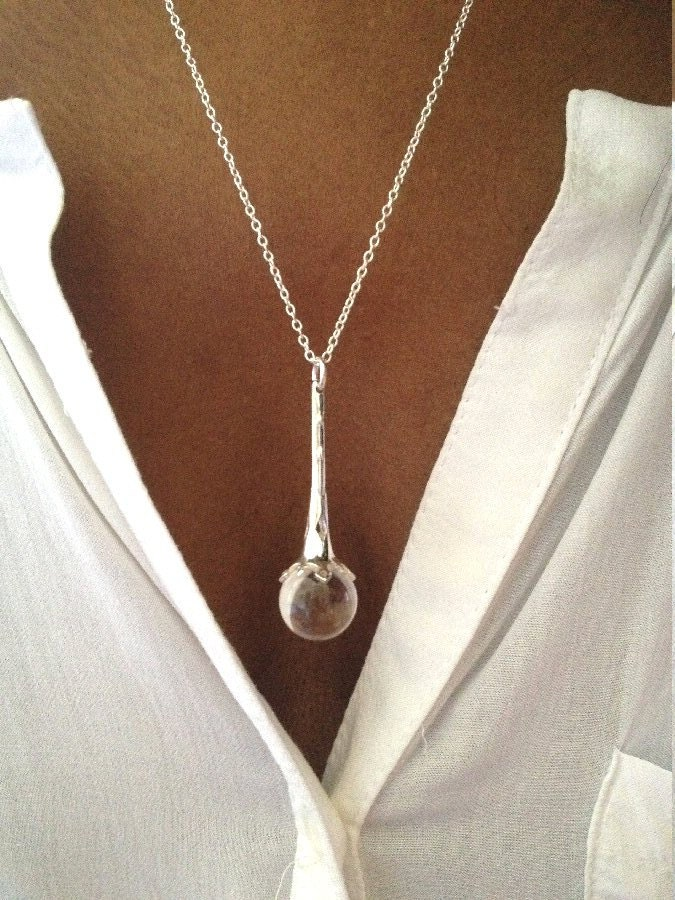 Crystal ball necklace scrying pendant scrying ball necklace zoom aloadofball Image collections