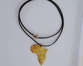 Golden Africa necklace /