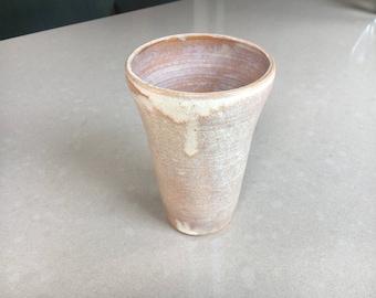 Pale Orange and White Vase