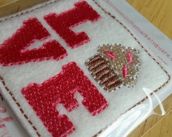 Love Cupcake Downward Felt Paper Clip