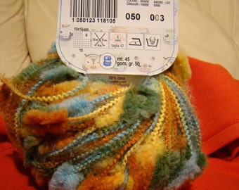 Free Shipping from the second ball - Adriafil Ciuffo - original Italian made fancy yarn - SALE - only 4.99 USD instead of 5.99 USD