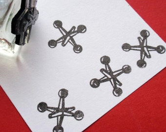 Toy Jacks Rubber Stamp  - Handmade by Blossom Stamps
