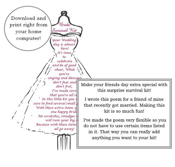 Wedding Dress Shopping Survival Kit