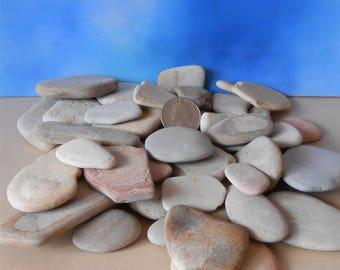 Pebble Art, Rock Art, 36-60 Pieces Bulk, Flat Rocks, Craft Rocks, Pebbles, Stones, Flat Rate Shipping~Miniature Garden, Decorative Stone