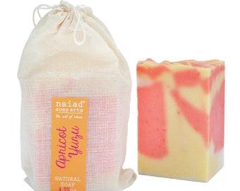 Abricot Yuzu karité beurre Soap - savon fait main naturel - végétalien et sans cruauté - palme durable