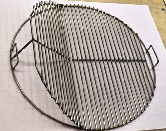 """KG 63039 SNS 25.5"""" Round Flip Up BBQ Stainless Grill Cook Grate- Weber  replacement"""
