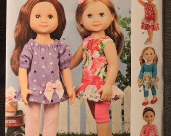 Simplicity 8574   Dianne Morin Design   American Girl Wellie Wishers 14in Doll Clothes
