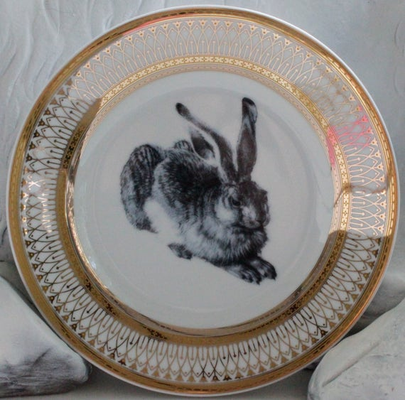 Like this item? & Rabbit Hare Gold Silver Dinnerware/Plates/Dishes Easter