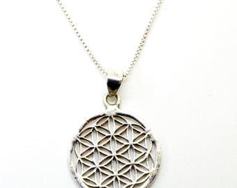 Flower of life pendant Sterling Silver, sacred geometry necklace || Silver Pendand Flower Of life || Silver 925 -FL1