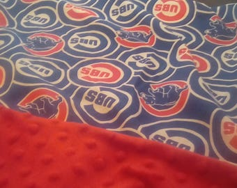 """Chicago Cubbies Baby Car Seat or Stroller Blanket 24"""" x 28"""""""