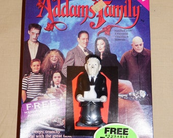 1991, Addams Family Cereal, LURCH Flashlight, Factory Sealed, Vintage Addams Family,  New in the Box, Vintage Cereal and Flashlight Toy