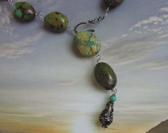Vintage Turquoise Long Necklace