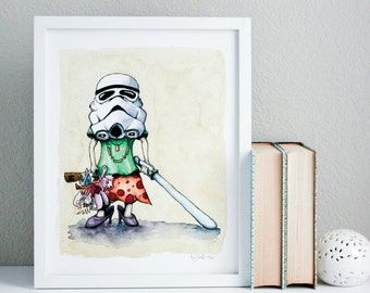Little Sister Art Print (Limited Edition 11x14)