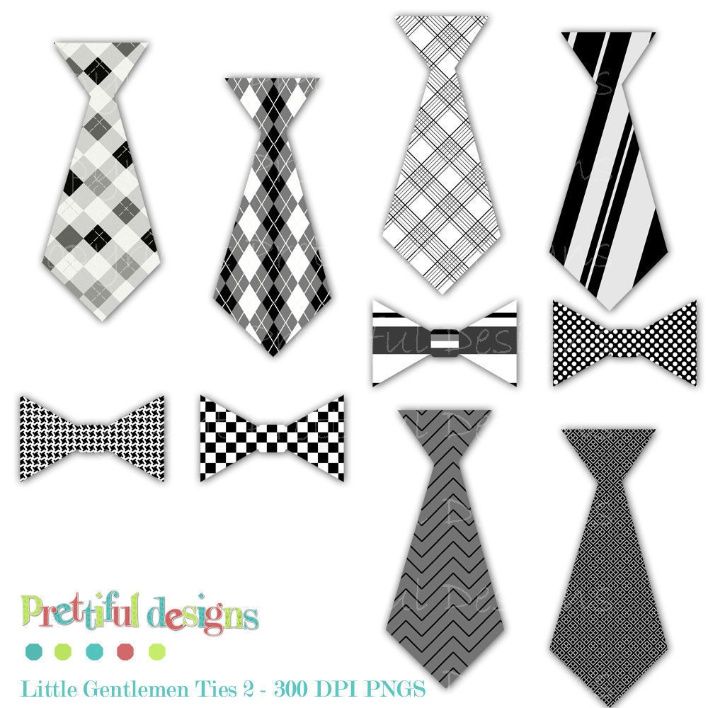 Tie and Bow Tie Clip Art Personal or Commercial Use Little for Tie Clip Art Black And White  51ane