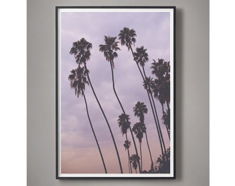 Pink Art, Purple Sky photography, Minimal photography, Cotton Candy Color, LA style, Sherbert colors, Pastel Art, Large Photo, Loft Art