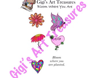 Clear Acrylic Stamps - Gigi's Art Treasures© - Bloom Where You Are