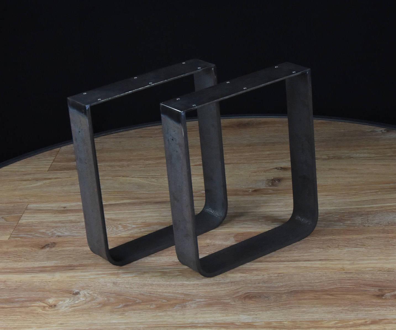 couchtisch beine u form beine breit flachstahl tischbeine. Black Bedroom Furniture Sets. Home Design Ideas