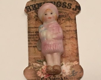 """Sweet Artist Made Penny Doll 1 1/4"""""""