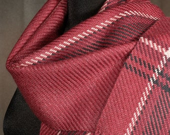 Red scarf / winter scarf / handwoven scarf / merino wool scarf