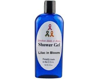 Lilac in Bloom Scented Natural Shower Gel Free Shipping