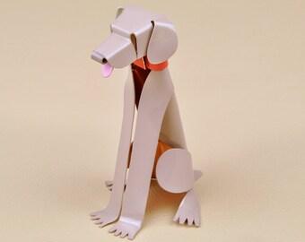 "Weimaraner Dog Sculpture 4"" tall Handmade Copper Miniature Collectible Dog Art, Weimaraner Art, Weimaraner Figurine, Weimaraner Gift"