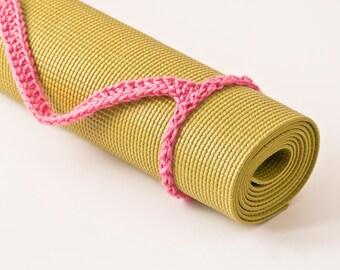 Yoga Mat Strap, Light Raspberry Slim Tote Handle - US Shipping Included,Original HH Design