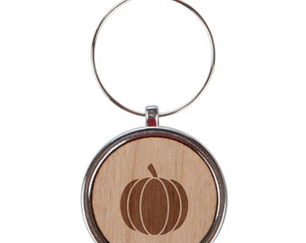 Pumpkin Wood Wine Glass Charms Set Of 6 - 1 Inch Laser Engraved Wine Glass Charm Gift
