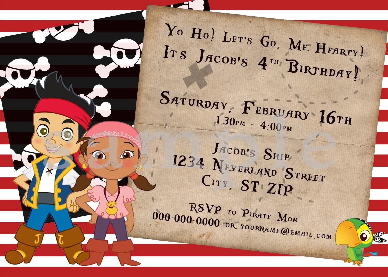 DIY Printable Jake & The Neverland Pirates Birthday