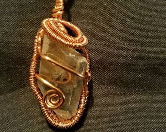 Wire Wrapped Quartz Pendant