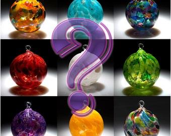 """Hand Blown Fine Art Glass Ornament Sun Catchers Artist Choice """"4 Pack"""" in various colors.  Made in Seattle. Artist Dehanna Jones."""