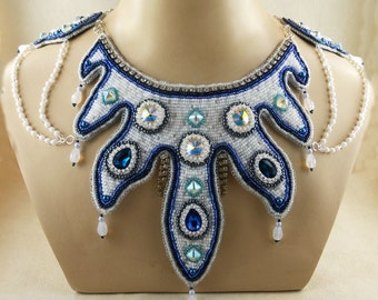 Necklace, Bead Embroidery, beadembroidery
