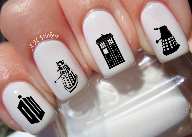 46 doctor who nail decals zoom prinsesfo Choice Image