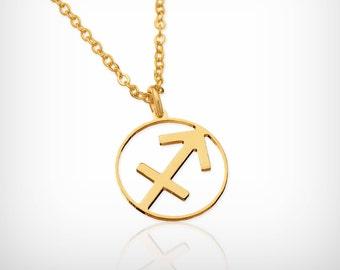 Sagittarius necklace Sagittarius zodiac Dainty gold necklace Sagittarius constellation necklace , zodiac jewelry, Sagittarius zodiac sign