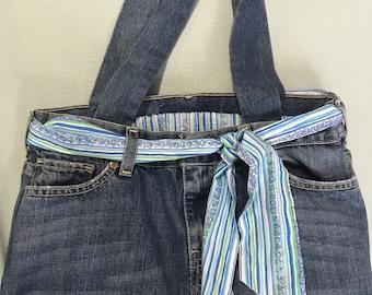 Super cute boho, hippy, jean purse handmade never used