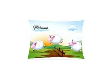 cushion sheep satin playing leapfrog fully customizable ref 591