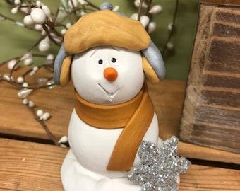 Snowman, Winter Decor, Christmas Decor, Snowman Sculpture, Snowman Decoration, Snowman and Snowflake, Winter