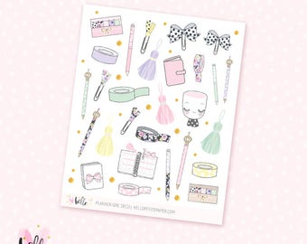 Planner Girl - Deco stickers, 28 matte or glossy planner stickers