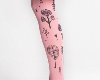 PUISTO Hand printed tights