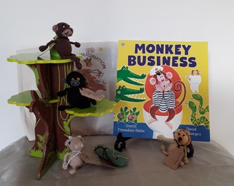 Monkey business story bag