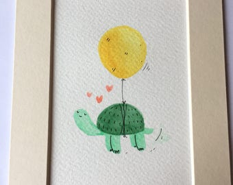 Feelin' fine (hand painted illustration)